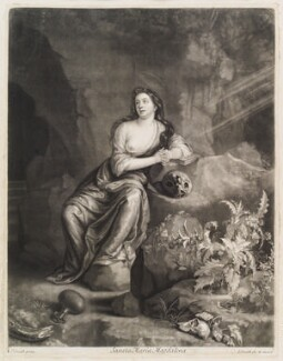 Mary Magdalene, by and published by John Smith, after  Casparus Smits (Gaspar Smitz) - NPG D11721