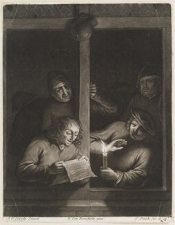 Boors singing at a window, by and published by John Smith, after  Adriaen van Ostade, after  Egbert van Heemskerck the Elder - NPG D11722
