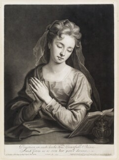 Catherine (née Kneller) Huckle as Mary Magdalene, by and published by John Smith, after  Sir Godfrey Kneller, Bt, 1705 (circa 1702) - NPG  - © National Portrait Gallery, London