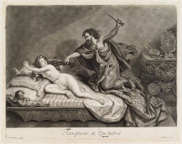 Tarquin and Lucretia, by and published by John Smith, after  Willem de Ryck (Ryke) - NPG D11728