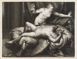 Cupid and Psyche, by Isaac Beckett, published by  John Smith, after  Alessandro Turchi - NPG D11729