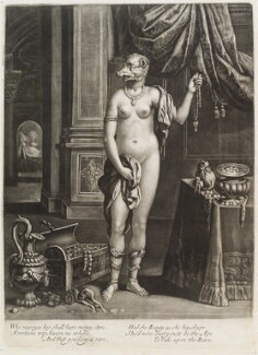 Naked woman with head of a bear, possibly published by John Smith, after  Unknown artist - NPG D11734