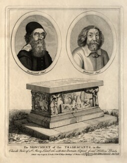 The Monument of the Tradescants (John Tradescant the Elder; John Tradescant the Younger), published by Nathaniel Smith, after  Wenceslaus Hollar - NPG D12268