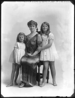 Diana Ethel Muriel Donald Lyell (née Cory); Gertrude (née Box), Lady Cory; Valerie Donald (née Cory), Lady Gane, by Bassano Ltd - NPG x74990