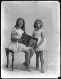 Valerie Donald (née Cory), Lady Gane; Diana Ethel Muriel Donald Lyell (née Cory), by Bassano Ltd - NPG x74991