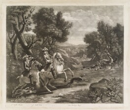 Deer Hunt, by John Smith, after  Jan van Wyck - NPG D11742
