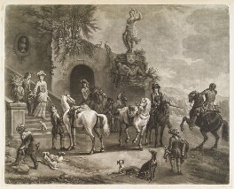 Before the Chase, by and published by John Smith, after  Jan van Wyck - NPG D11743