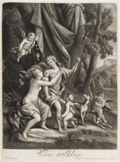 Venus and Adonis, published by John Smith, after  Balthazar van Lemens - NPG D11750