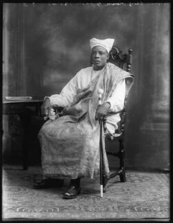 Amodu Tijani, Chief Oluwa of Lagos, by Bassano Ltd, 12 July 1920 - NPG x75019 - © National Portrait Gallery, London