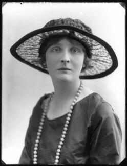 Lady Olivia Trevor (née Buchan), by Bassano Ltd - NPG x75036