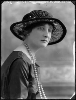 Lady Olivia Trevor (née Buchan), by Bassano Ltd - NPG x75037