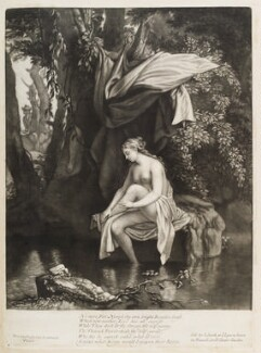 A Naked Woman Bathing, published by John Smith, after  Prosper Henry Lankrink - NPG D11751