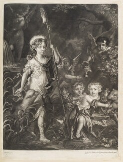 Children of Thomas, 2nd Baron Crew of Steine (Jemima, Airmine and Elizabeth), by William Vincent, published by  John Smith, after  Jacob Huysmans - NPG D11755