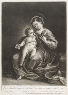Virgin and Child, by and published by John Smith, after  Bartolomeo Schedoni - NPG D11757