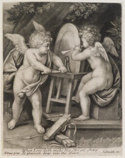 Cupid grinding his arrows, published by John Smith, after  Francesco Albani - NPG D11759