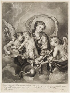 Virgin and Child with angels playing instruments, published by John Smith, after  Sir Anthony van Dyck - NPG D11764