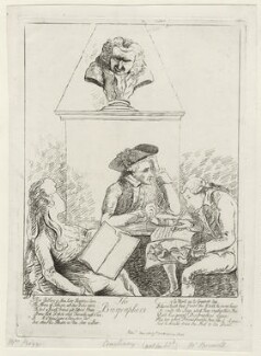 'The biographers', by James Sayers, published by  Thomas Cornell - NPG D12243