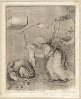 'A puerile attack upon an old servant', by James Sayers, published by  Thomas Cornell - NPG D12244