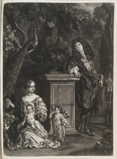 Nicolas de Largillière; his wife and two children, by Isaac Beckett, published by  John Smith, after  Nicolas de Largillière - NPG D11557