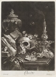 Vanitas (still-life with skull), by Robert Robinson, published by  John Smith - NPG D11770