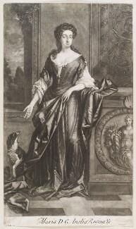 Charlotte Lee (née Fitzroy), Countess of Lichfield, by Isaac Beckett, after  Sir Godfrey Kneller, Bt - NPG D11561