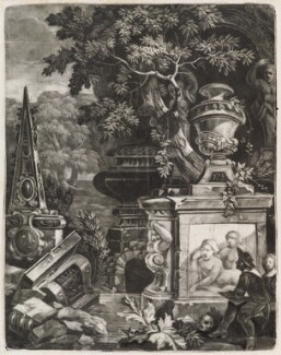 Artist sketching classical ruins, by Robert Robinson, published by  John Smith - NPG D11791