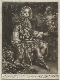 Edward Rich, 6th Earl of Warwick and 3rd Earl of Holland, by John Smith, published by  Edward Cooper, after  Willem Wissing, 1684 - NPG D11907 - © National Portrait Gallery, London