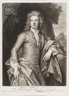 Anthony Henley, by and published by John Smith, after  Sir Godfrey Kneller, Bt, 1694 (circa 1690) - NPG D11568 - © National Portrait Gallery, London
