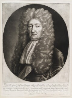 William Russell, 1st Duke of Bedford, by Robert Williams, published by  John Smith, after  Edward Lutterell (Luttrell) - NPG D11569