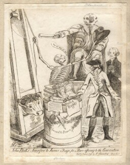'John Bull's sacrifice to Janus', by James Sayers, published by  Hannah Humphrey - NPG D12257