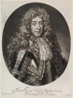 King James II, by Isaac Beckett, published by  John Smith, after  Nicolas de Largillière - NPG D11916