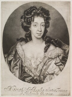 Mary of Modena, published by John Smith, after  Nicolas de Largillière, circa 1683-1729 - NPG D11917 - © National Portrait Gallery, London