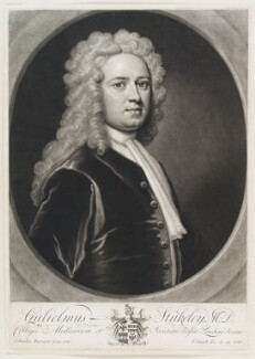 William Stukeley, by and published by John Smith, after  Sir Godfrey Kneller, Bt, 1721 (1720) - NPG D11570 - © National Portrait Gallery, London