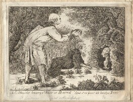 'A ex minister training a terrier at Bowood', by James Sayers, March 1798 - NPG D12262 - © National Portrait Gallery, London