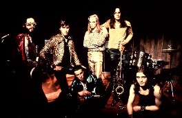 Roxy Music (Phil Manzanera; Bryan Ferry; Andy MacKay; Brian Eno; Rik Kenton; Paul Thompson), by Brian Cooke - NPG x125378