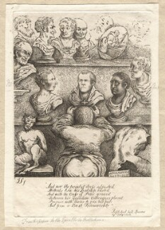 '[Frontispiece to hints to J. Nollekens, Esq RA]', by James Sayers, published by  R. Spencer - NPG D12265