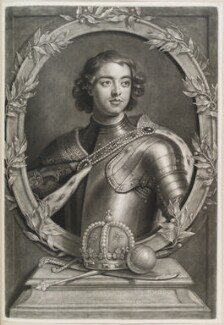Peter I (Peter the Great), by and published by John Smith, after  Sir Godfrey Kneller, Bt - NPG D11575