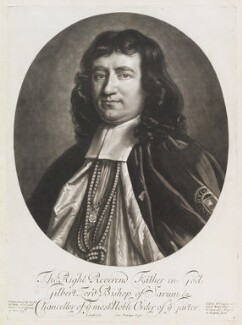 Gilbert Burnet, by John Smith, published by  Richard Tompson, published by  Edward Cooper, after  John Riley, 1690 (circa 1689-1691) - NPG D11581 - © National Portrait Gallery, London