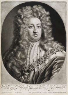 Prince George of Denmark, Duke of Cumberland, by and published by John Smith, after  Sir Godfrey Kneller, Bt, 1706 - NPG  - © National Portrait Gallery, London