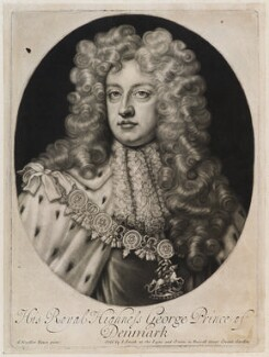 Prince George of Denmark, Duke of Cumberland, published by John Smith, after  Sir Godfrey Kneller, Bt, circa 1683-1729 - NPG  - © National Portrait Gallery, London