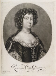 Catherine of Braganza, by Isaac Beckett, published by  John Smith - NPG D11927