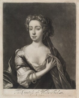Dorothy Fane (née Brudenell), Countess of Westmorland, by Isaac Beckett, published by  John Smith, after  John Riley - NPG D11941