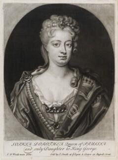 Sophia Dorothea, Queen of Prussia, published by John Smith, after  Friedrich Wilhelm Weidemann, 1715 - NPG D11932 - © National Portrait Gallery, London