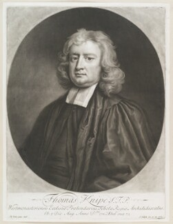 Thomas Knipe, by and published by John Smith, after  Michael Dahl, 1712 (1696) - NPG D11583 - © National Portrait Gallery, London