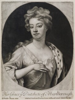 Sarah Churchill (née Jenyns (Jennings)), Duchess of Marlborough, published by John Smith, after  Sir Godfrey Kneller, Bt, 1705 - NPG D11947 - © National Portrait Gallery, London