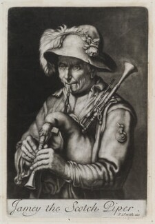 Jamey the Scotch Piper, by and published by John Smith, after  Abraham Bloemaert - NPG D11803