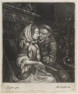 Friar and lady, published by John Smith, after  Laureys (Lorenzo) a Castro - NPG D11806