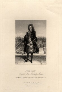 John Law, by William Greatbach, published by  Richard Bentley, after  Leonard Schenk - NPG D12274