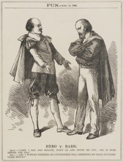 Hero v. Bard (William Shakespeare; Giuseppe Garibaldi), by Unknown artist - NPG D13122