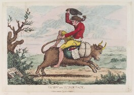 'Paddy on horse-back', by James Gillray, published by  William Humphrey, published 4 March 1779 - NPG  - © National Portrait Gallery, London